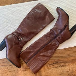 Marc Fisher knee high leather boots